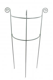 Staudenhalter HUGO halbrund Höhe 116 cm, Breite 45 cm dunkelgrün Tiefe 22 cm Rundeisen 8/10 mm Pulverbeschichtet/Pulververzinkt