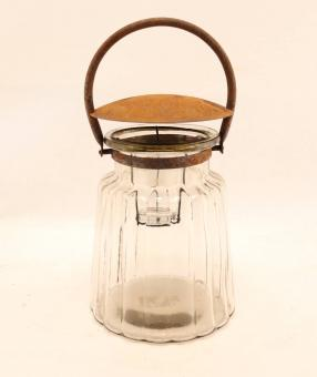 Glas Bella mit Henkel und Deckel