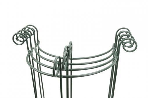 4x Staudenhalter HUGO halbrund Höhe 90cm Breite 45cm dunkelgrün Tiefe 22 cm Material 8/10 mm Pulververzinkt/Pulverbeschichtet
