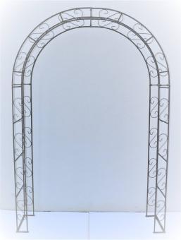 Rosenbogen Rund aus Metall stabil, Vollmaterial mit Edelrost, Rankgitter Breite 165cm Höhe 245cm Tiefe 40cm,