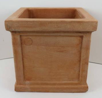 Terracotta Impruneta Cubo Liscio Con Bordo Form Quadrat ohne Verzierung Blumentopf, Gefäß, Würfel