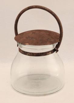 Glas Athen mit Henkel und Deckel