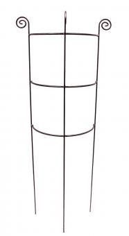 Staudenhalter HUGO halbrund stabil Höhe 150 cm, Breite 45 cm Vollmaterial Rankhilfe Pflanzstütze Rankgitter